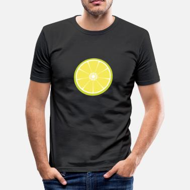 Lime Slice Lime slice - Men's Slim Fit T-Shirt