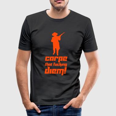 Carpe that fucking diem! (Vector) - Men's Slim Fit T-Shirt