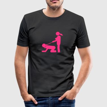 Sex position dominates slave 1 - Men's Slim Fit T-Shirt