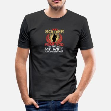 God Soldier Soldier God wife - Men's Slim Fit T-Shirt