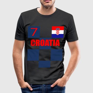 Croatia Croatia Soccer football 7 rakitic - Men's Slim Fit T-Shirt