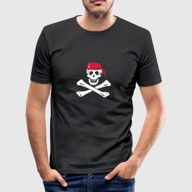 Jolly Roger Piratenflagge - Männer Slim Fit T-Shirt
