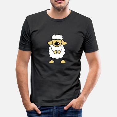 72afcc29af7b62 Wolk Te Slapen lieve Schapen - Mannen slim fit T-shirt