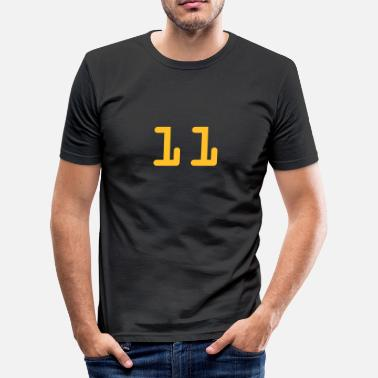 11 11 11 - Männer Slim Fit T-Shirt