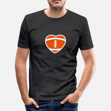 Rugby Football Rugby Heart - slim fit T-shirt
