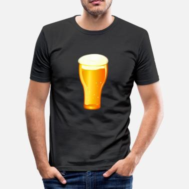 Picole Beer beer glass drink pils alcohol Hefeweizen - Men's Slim Fit T-Shirt