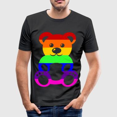 Gay Pride - Teddybear - EN - slim fit T-shirt