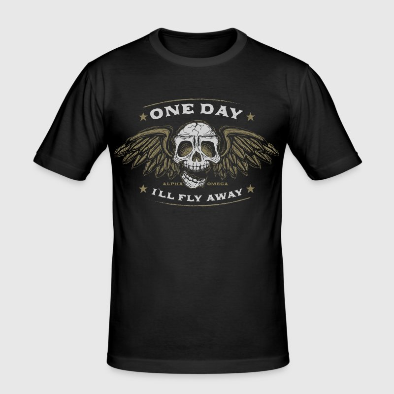 One day I`ll fly away - Männer Slim Fit T-Shirt