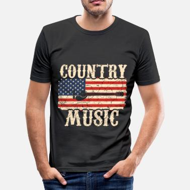 Country Country music guitar - Men's Slim Fit T-Shirt