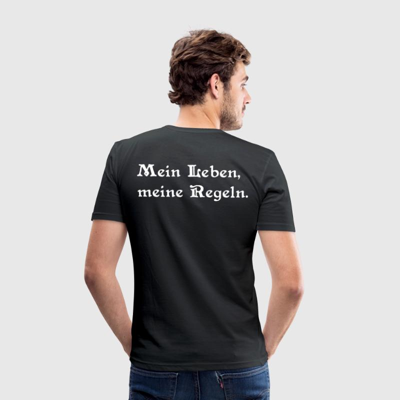Thelema Hexagramm 2 - Männer Slim Fit T-Shirt