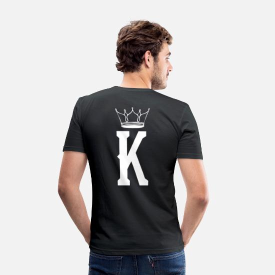 King Queen T-paidat - King Crown / King Queen Duo - Miesten slim fit t-paita musta