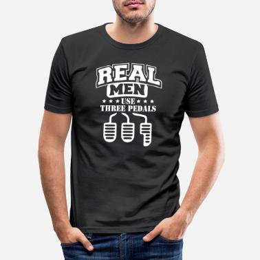 Werkstatt Real Men Car - Männer Slim Fit T-Shirt