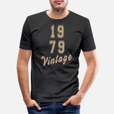 Années 90 Retro 1979 Text 40th Birthday Vintage Classic - T-shirt moulant Homme