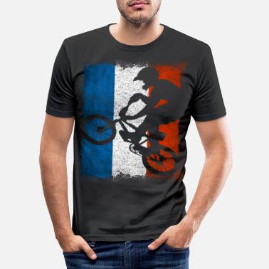 Bmx BMX France / bmx / Bmx / Bike / Fahrrad - BMX - Men's Slim Fit T-Shirt