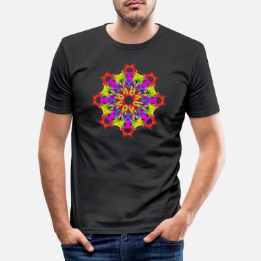 Colour colour splash mandala - Men's Slim Fit T-Shirt