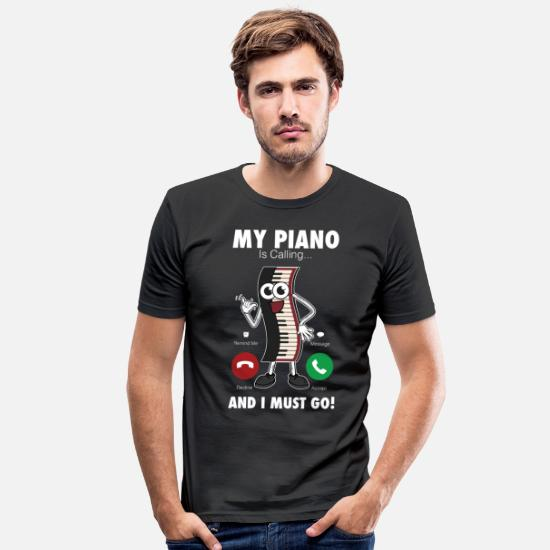 Wing T-Shirts - Piano piano - Men's Slim Fit T-Shirt black