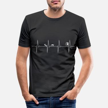 Evolution Heartbeat Heartbeat Reading / Reading - Men's Slim Fit T-Shirt