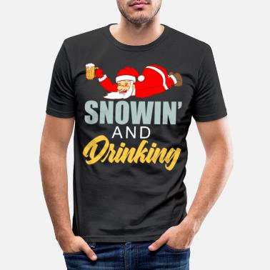 Hockey Snowin 'and Drinking Merry Christmas 25. december - Slim fit T-shirt mænd