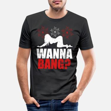 Culture Wanna Bang? Happy New Year 2020 January 1st - Men's Slim Fit T-Shirt