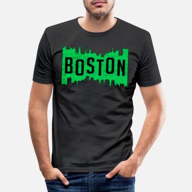 Boston Marathon Koel de gift zeggen van Boston de VS Boston Marathon - Mannen slim fit T-shirt