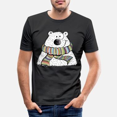 Winter Kleiner Winterbär - Bär - Comic - Tier - Tiere - Männer Slim Fit T-Shirt