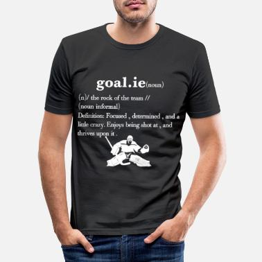 Goalie Hockey Goalie Definiton - Slim fit T-shirt mænd