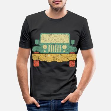Transport Nice Riding Tee For Riders With A Retro - Men's Slim Fit T-Shirt