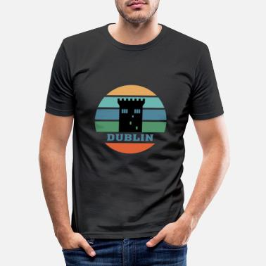 Paysage Dublin City Skyline Ireland Landmark - T-shirt moulant Homme