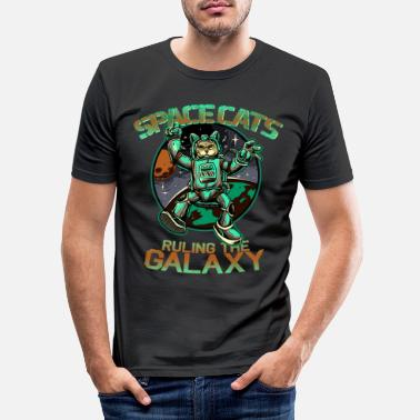 Space Cats Ruling the Galaxy - Männer Slim Fit T-Shirt