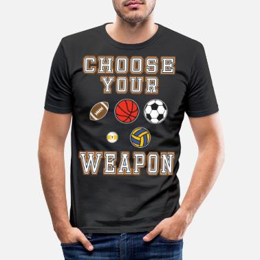 Cycling Awesome & Trendy Tshirt Designs CHOOSE YOUR WEAPON - Men's Slim Fit T-Shirt