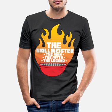 Meat Pitmaster BBQ Barbecue food grill Put my meat in - Men's Slim Fit T-Shirt