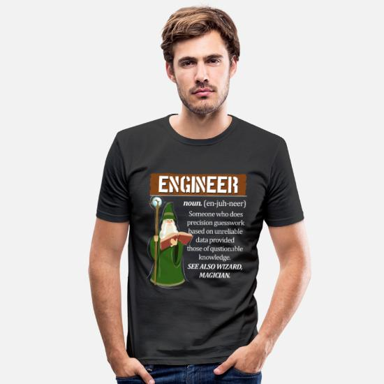 Ingeniør T-skjorter - Er du ingeniør? - Slim fit T-skjorte for menn svart