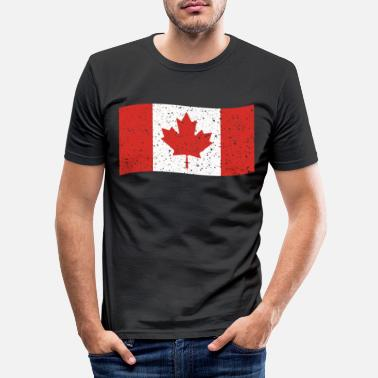 Canadian Girls CANADA FLAG - Men's Slim Fit T-Shirt