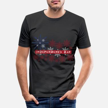 Independence Day 4. juli Independence Day Independence Day - Slim fit T-skjorte for menn