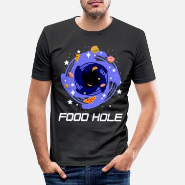 Galaxey Lustiges Schwarze Loch Pizza, Donut & Burger Fan - Men's Slim Fit T-Shirt