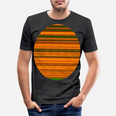 Oval Window Fraktal stripe oval - Slim fit T-skjorte for menn