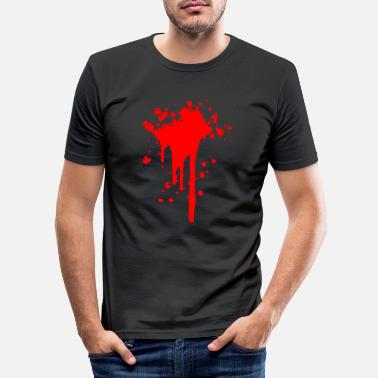 Wounded Blood stain blood wound wound - Men's Slim Fit T-Shirt