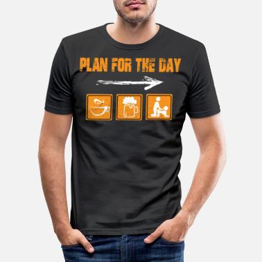 Kaffe Plan for dagen Kaffe Øl Sex Daglig plan hver dag - Slim fit T-shirt mænd