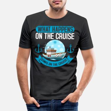 Cruise Scheepvaart On The Cruise Cruise Cruise Cruise - Mannen slim fit T-shirt