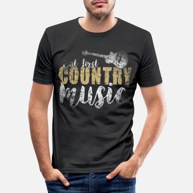 Country Country Music - Männer Slim Fit T-Shirt