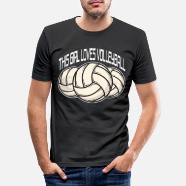 Passerslag Volleyball volleyballspiller sandvolleyball gave - Slim fit T-skjorte for menn