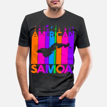Bubblor Amerikanska Samoa Färgade bubblor och bubblor - T-shirt slim fit herr