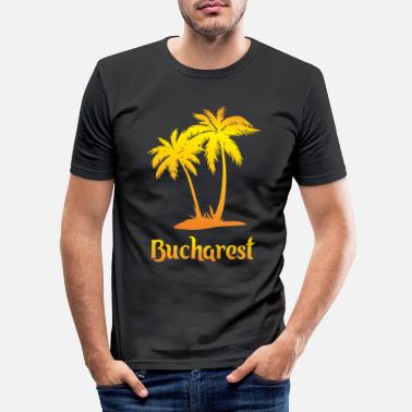 National Bucharest dream vacation with sun - Men's Slim Fit T-Shirt