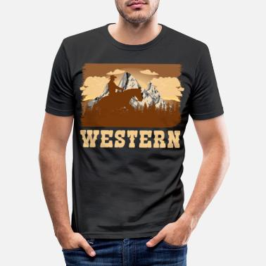 Western Riding Western riding - Men's Slim Fit T-Shirt