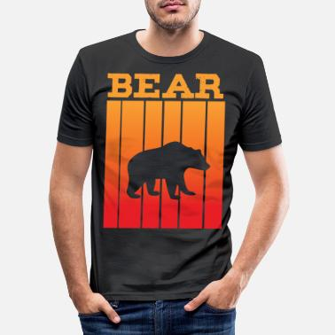 South America Bear shadow play in the sunset - Men's Slim Fit T-Shirt