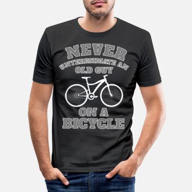 Bike Never underestimate an old man on a bike - Men's Slim Fit T-Shirt