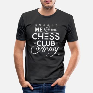 Plus Chess Club Army Chess Club Chess Course Chess - Slim fit T-shirt mænd