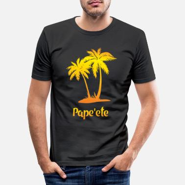 Region Papeete dream vacation with sun - Men's Slim Fit T-Shirt