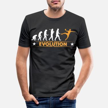 Handball Handball Evolution - orange/weiss - Slim fit T-skjorte for menn