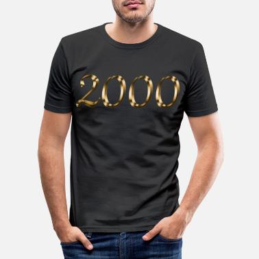 Deluxe 2000 vintage year of birth gold gift - Men's Slim Fit T-Shirt